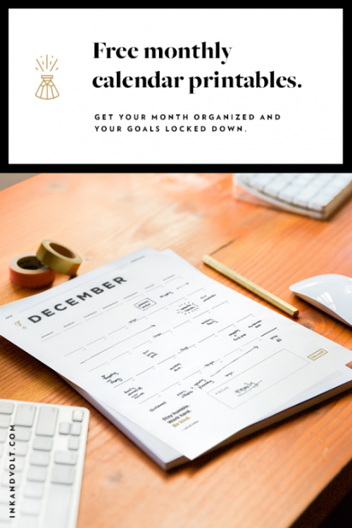 Free 2017 Planner & More - Just Download & Print!