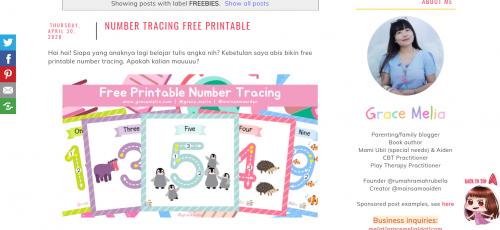 Grace Melia - 3 Situs Printable Gratis Untuk Anak - Faradila's Favorites