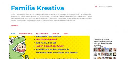 Familia Kreativa - 3 Situs Printable Gratis Untuk Anak - Faradila's Favorites