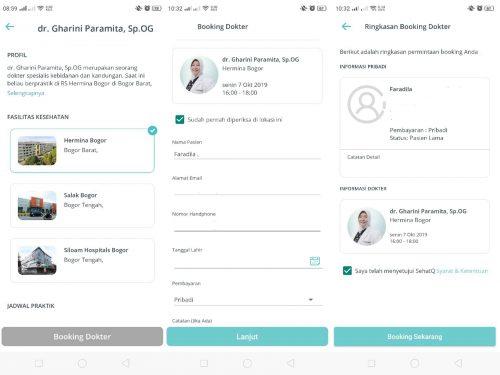 Booking dokter di Promo aplikasi SehatQ