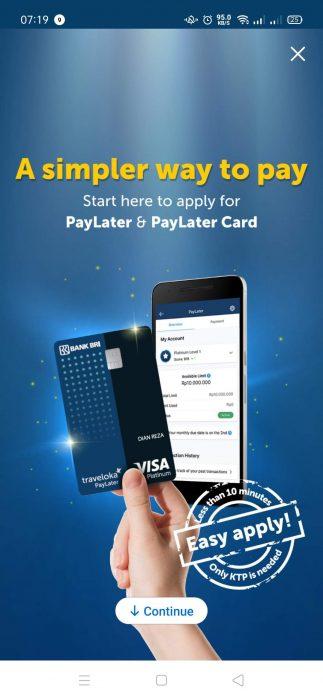 Alasan Mendaftar Kartu Kredit Traveloka PayLater Card BRI