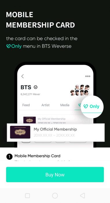 Mobile card ARMY Membership