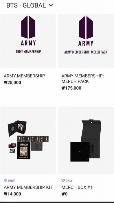 Harga BTS ARMY Membership - Buy or Bye