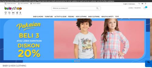 Beli Perlengkapan Bayi & Anak Online di Babyshop Webstore