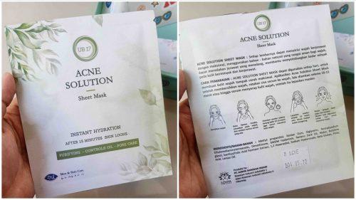 DL Slim Skin Care Acne Solution Sheet Mask