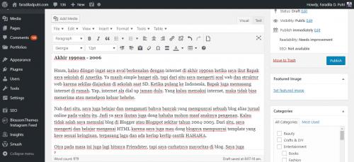 Faradila's Flashback Awal Mula Menulis Blog