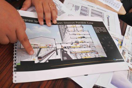 integrasi stasiun pondok cina Apartemen Mahata Margonda Depok
