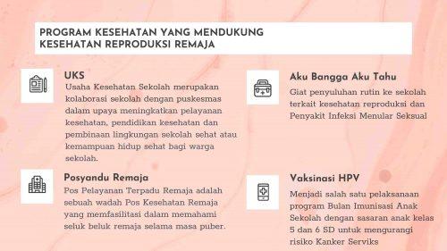Kegiatan Pemerintah untuk membantu kesehatan reproduksi