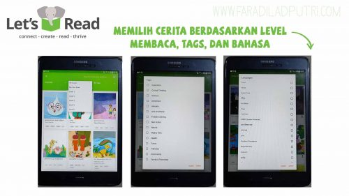 Membaca Menyenangkan dengan Aplikasi Let's Read Perpustakaan Digital Library