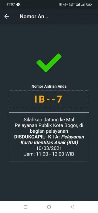 APlikasi MPP KOta Bogor Membuat Kartu Identitas Anak - KIA di MPP Kota Bogor