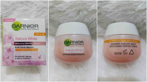 Sakura White Whitening Serum Cream with SPF 21 Day Cream
