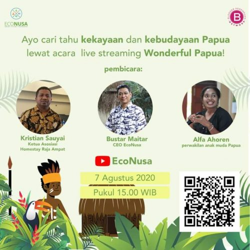 Mengenal Tanah Papua di Wonderful Papua Virtual Gathering