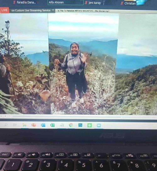 Alfa Ahoren selaku perwakilan anak muda Papua