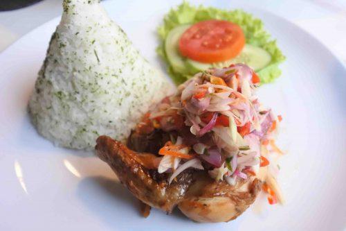 roast chicken sambal matah indigo cafe bogor