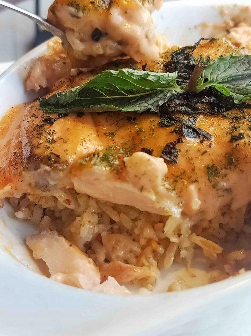 salmon mentai rice indigo cafe bogor