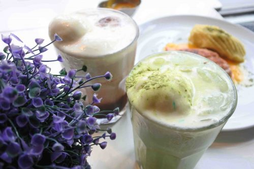 Minuman di Indigo Cafe Green Tea Latte