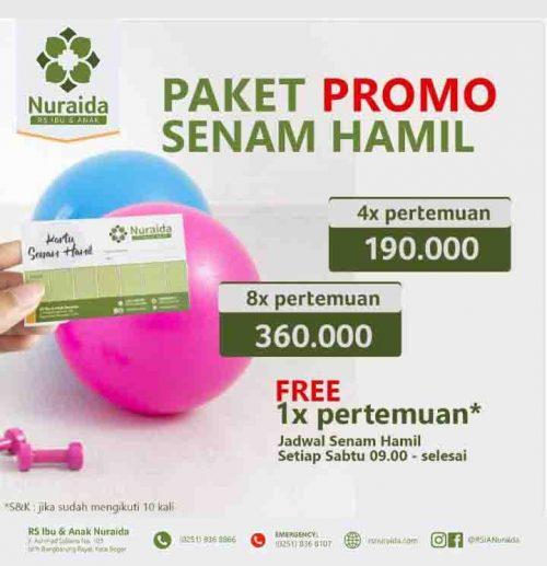 Promo Senam hamil di Bogor