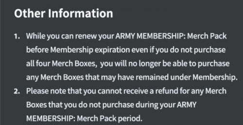 Penjelasan Tambahan BTS ARMY Membership 2021