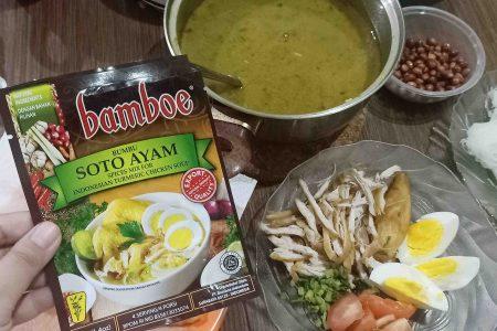 Resep Soto Ayam Praktis (dengan Bumbu Bamboe)