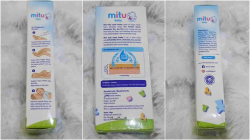 Review Bedak Cair : Mitu Baby Liquid Powder