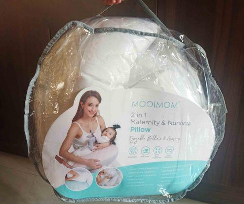 Review MOOIMOM Nursing Pillow - Bantal Menyusui 2 in 1