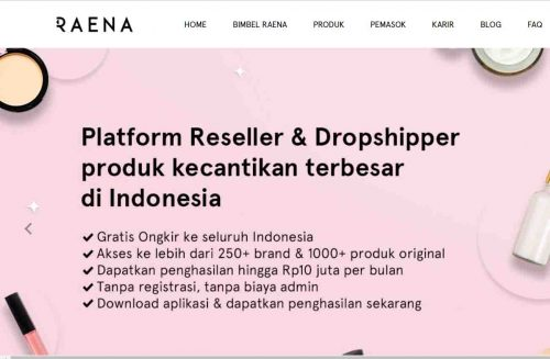 Aplikasi reseller dropship skincare makeup Raena Beauty