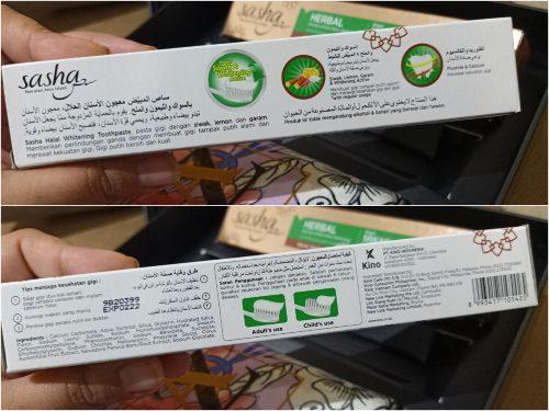 Review Sasha Pasta Gigi Halal Bersiwak