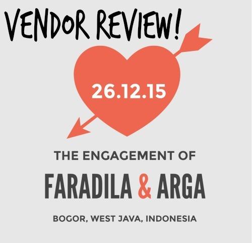 Review Vendor Acara Lamaran Faradila & Arga