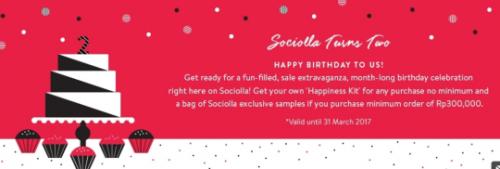 Promo Sociolla Second Anniversary