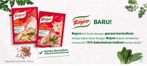Sudah Coba Royco Baru dengan Garam Beriodium?