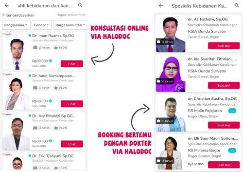Halodoc Dokter Kandungan Bogor dan Online