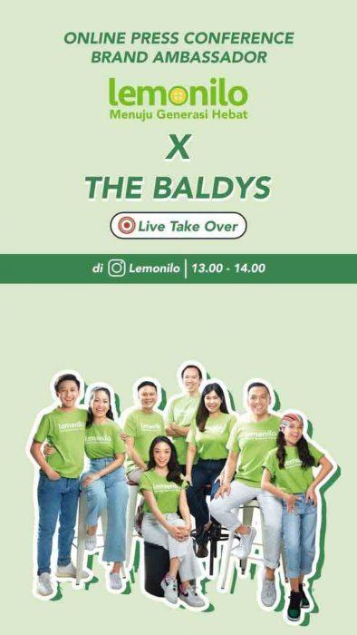 Meet The Baldys! Brand Ambassador untuk Lemonilo