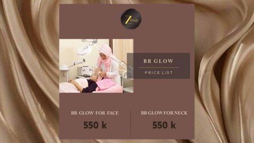pricelist bb glow Cantik dari Rumah Bersama Z Beauty (Plus Pricelist!)