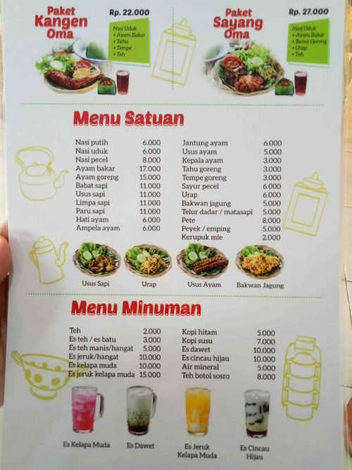 Menu Waroenk Talubi Kuliner Bogor